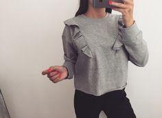 3 rzecz gratis ! bluza basic falbany zara s m - vinted.pl
