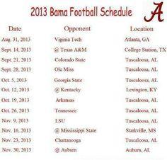 Schedule 2013.