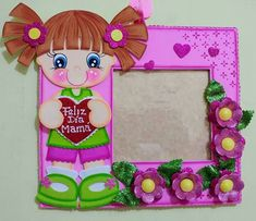modelos de tarjetas para mama moldes de dibujos de microporoso - Buscar con Google Kids Crafts, Craft Stick Crafts, Felt Crafts, Diy And Crafts, Paper Crafts, Birthday Calendar, Cute Clipart, Class Decoration, Candyland
