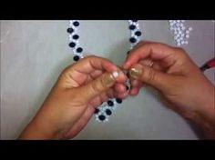 Collar de Perlas y Misangon...Clase #20!!! - YouTube