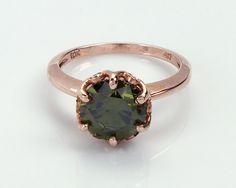 10K Peridot Diamond Engagement Ring Peridot Engagement Rings, Peridots, Aquamarine Rings, Halo Rings, Halo Diamond, Wedding Ideas, Jewellery, Antiques, Green