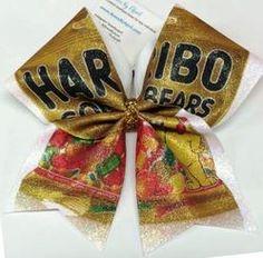 Haribo Gold Gummy Bears Full Glitter Cheer Bow