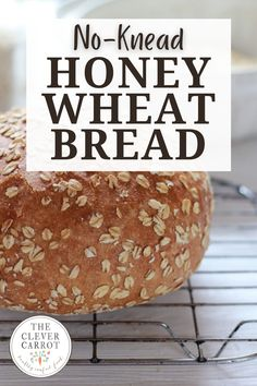 This no-knead bread is so delicious--perfect for making sandwiches or dunking in soup. It's nutty, golden and soft on the inside with a delightfully crunchy outside. Homemade Hamburger Buns, Hamburger Bun Recipe, Muffin Recipes, Bread Recipes, What A Burger, Honey Wheat Bread, Nutritious Smoothies, Homemade Pancakes, No Knead Bread