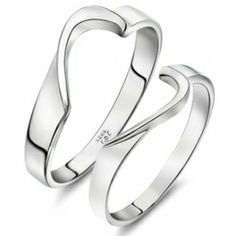 Cheap Love Password Sterling Silver Heart Couples Rings