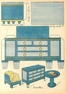 Vintage French Paper Furniture