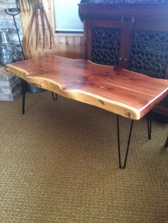 Live Edge Cherry Knot Coffee Table Wood tables Pinterest