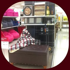 Cozy up with a plaid heated blanket and a glass of wine! #target #targetrun #targethaul #targetfinds #targetstyle @targetstyle @target #homedecor #homesweethome #vml #seespotstyle #noplacelikehome #clock #mirror #barcart #ottoman #decor #wine #wineglass #barware