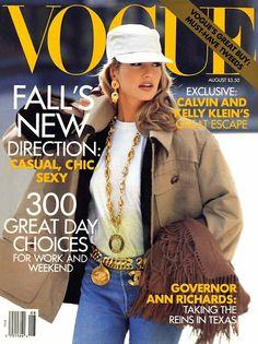 Karen Mulder, photo by Patrick Demarchelier, Vogue US*