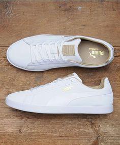 Puma white trainers - Adidas White Sneakers - Latest and fashionable shoes - Puma white trainers White Puma Shoes, Puma Shoes Women, All White Shoes, White Tennis Shoes, Shoes For Women, Best White Sneakers, White Sneakers Outfit, Green Sneakers, Adidas Women