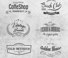 Винтажные Логотипы - Vintage Logo Labels Vol 1