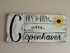 A personal favorite from my Etsy shop https://www.etsy.com/listing/465383021/mr-mrs-monogram-board-reclaimed-wood