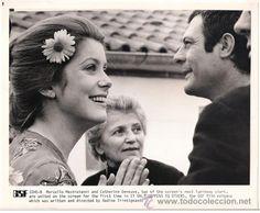 Marcello Mastroianni y Catherine Deneuve, 70's.