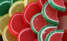 candy citrus slices - watermelon is my favorite!