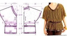 images attach c 9 105 955 Diy Couture, Couture Sewing, Couture Tops, Sewing Patterns Free, Clothing Patterns, Dress Patterns, Sewing Blouses, Diy Tops, Modelista