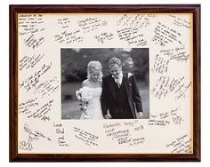 A nice alternative to signing a visitors book that you can display afterwards