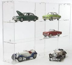 Sora #modular design display cabinet for #model cars 1/18, back-panel: #transpare,  View more on the LINK: 	http://www.zeppy.io/product/gb/2/221609165056/