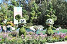 Topiary During the International Flower and Garden Festival in Epcot at Walt Disney World -