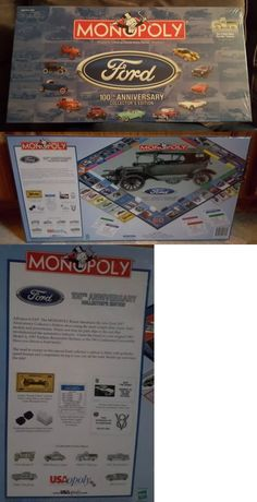 Contemporary Manufacture 180349: New Monopoly Ford 100Th Anniversary Collector S Edition Board Game Sealed 2003 -> BUY IT NOW ONLY: $49.99 on eBay!