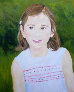 Retrato al oleo de Irene, óleo sobre lienzo 61x50 cms