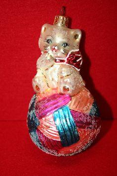 Christopher Radko Ornament Kitty Cares 1997 Cancer Design | eBay