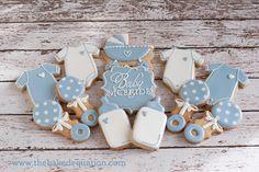 Baby Shower Cookies -The Baked Equation - Phoenix #babyshower #decoratedcookies #babyboy