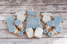 Baby Shower Cookies -The Baked Equation - Phoenix #babyshower #decoratedcookies #babyboy