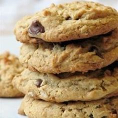 "Outrageous Chocolate Chip Cookies | ""If you want an awesome peanut butter chocolate chip cookie then this is the recipe for you. I used all natural peanut butter and it worked great."""