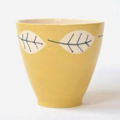 Mug in yellow by KleurindeKamer on Etsy