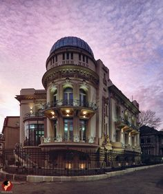 Bucharest, the astronomical observatory surrounded by pink. By Dincolo de Fatade. Astronomical Observatory, Visit Romania, Bucharest Romania, Classic Architecture, Eastern Europe, Tourism, Beautiful Pictures, Mansions, Landscape
