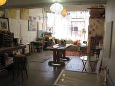 The awesome studio space of Flora Bowley