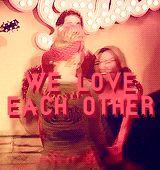 We Love each other. Brittana. Heather Morris and Naya Rivera #gif