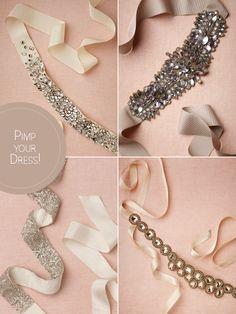 Gürtel mit Strass fürs Brautkleid