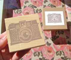 Items similar to Vintage Camera Rubber Stamp - Handcrafted Wood Mounted - Picture Time Great Letterboxing or Photographer Stamp Excellent for Scrapbooks on Etsy Handmade Stamps, Handmade Gifts, Hand Carved, Carved Wood, Printmaking, Decorative Boxes, Carving, Unique Jewelry, Crafts