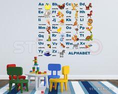 Alfabetul ilustrat in limba engleza - sticker imprimat