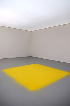 wolgang laib pollen square. so beautiful. his milk and rice installations are also so simple and beautiful