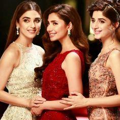 They are So Gorgeous #MayaAli #MahiraKhan #MawraHocane #BasZaraSaLUX #ThreeM #LUXGirls