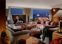 With 12 rooms (and, naturally, 12 bathrooms as well), the Royal Penthouse Suite at the Hotel President Wilson in Geneva is believed to be the most expensive hotel suite in the world at about 75,000 Swiss francs – or $80,000 – a night.