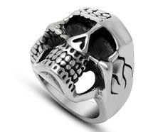 US$ 2.42 Wholesale Steel Skull Biker Rings