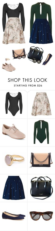 """Outfit"" by audrey-balt on Polyvore featuring Topshop, Melissa McCarthy Seven7, Clarks, Bohemia, Chanel, Anouki, Chloé, Cheap Monday, Victoria Beckham and plus size clothing"