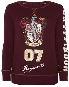 PRIMARK HARRY POTTER T-Shirt GRYFFINDOR Long Womens Ladies UK Size 6 - 20  NEW b996f2186c5