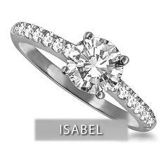 solitaire diamant accompagné, bague de fiancaille, bague diamant