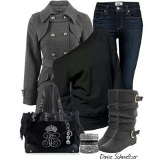 Loving these gray boots!