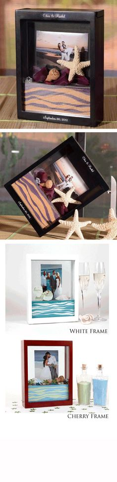 Unity Sand Ceremony Picture Frame - 6 Colors! I like this idea too with the picture frame