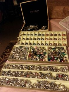 """Pinner says, """"Some of my Pandora Collection"""".  SOME of your collection???  Wow!"""