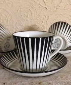 6 Danish Modern Eames Wegner Upsala Ekeby Zebra Eugene Trost Cups and Saucers | eBay