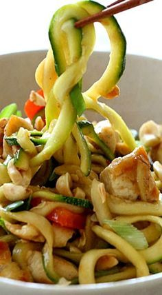 Kung Pao Chicken Zucchini Noodles