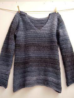 VMSomⒶ KOPPA: V...niin kuin virkattu villapaita Crochet Cozy, Crochet Cardigan, Crochet Hooks, Crochet Fashion, Ugly Sweater, Crochet Clothes, Shirt Style, Knitwear, Jackets