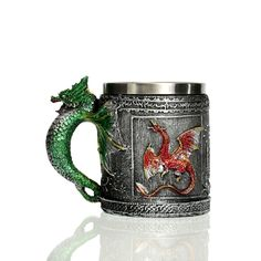 Caneca Criativa 3D Design Medieval Dragon Mug 12oz Double Wall Coffee Cup Dragon Ball Z Cups Moomin Mugs Taza Pokemon #>=#>=#>=#>=#> Click on the pin to check out discount price, color, size, shipping, etc. Save and like it!