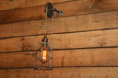 On SALE  Industrial Pulley Wall Sconce for by IndustrialRewind