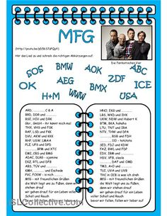 MFG - Lied Arbeitsblatt - Kostenlose DAF Arbeitsblätter
